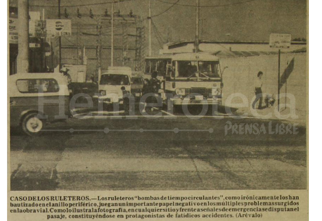 La intersección de la Avenida Elena y 9a. calle zona 1 salida del Periférico al centro de la ciudad.  (Foto: Hemeroteca PL)
