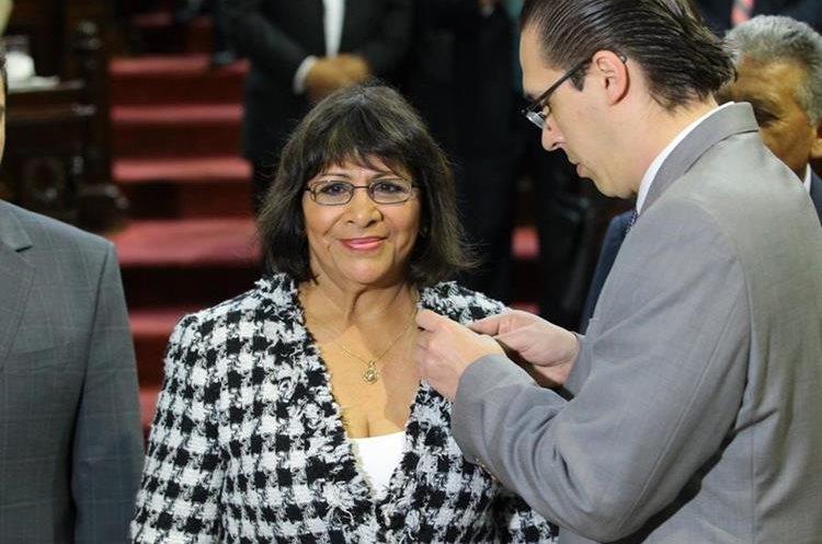 Edna Soto de Kestler ocupará la curul de su esposo Roberto Kestler, preso por un caso de corrupción. (Foto: Álvaro Interiano)