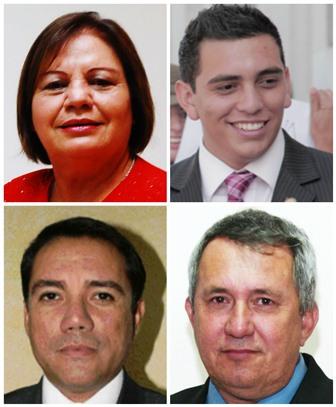Algunos de los diputados denunciados son Laura Franco, Manuel Giordano, Rudy Pereira y Óscar Corletto. (Foto Prensa Libre: Hemeroteca PL)