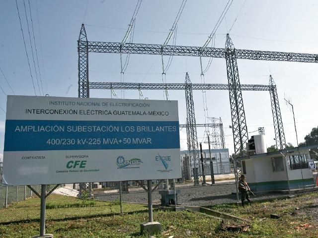 la subestación Los Brillantes, en el departamento de Retalhuleu, es el punto de la interconexión con México.