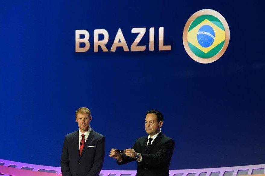 Este es el momento en que se anuncia a Brasil como cabeza de serie del grupo B que compartirá junto a Ecuador, Haití y Perú. (Foto Prensa Libre: AFP)