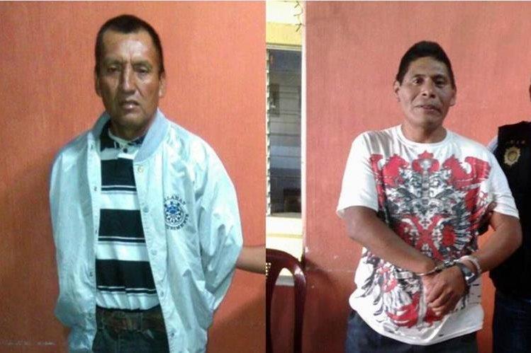 Detenidos en Huehuetenango acusados de violación, en la subestación local de la PNC. (Foto Prensa Libre: Mike Castillo).