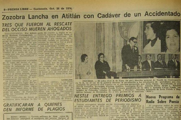 El 26 de octubre de 1974, el Lago de Atitlán se cobra tres víctimas. (Foto Hemeroteca PL)