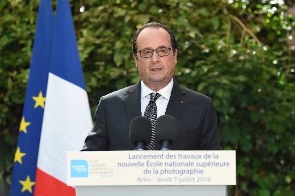 Francois Hollande, habla durante una visita en el sur de Francia. (AFP).