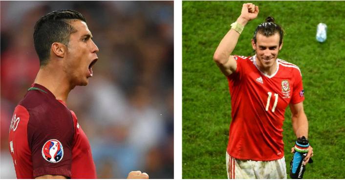 Cristiano Ronaldo y Bale disfrutarán del partido de semifinales en la Eurocopa. (Foto Prensa Libre: EFE)