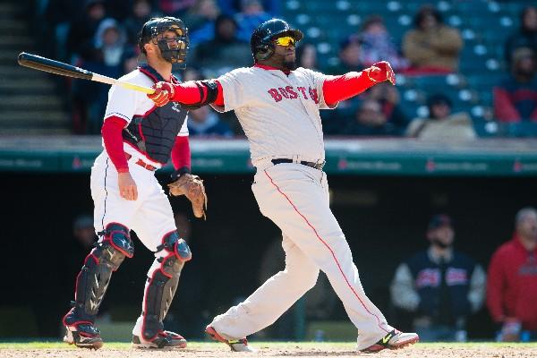 David Ortiz conectó un cuadrangular de dos carreras que le dieron el triunfo a Boston, en el arranque de la temporada. (Foto Prensa Libre: AFP)
