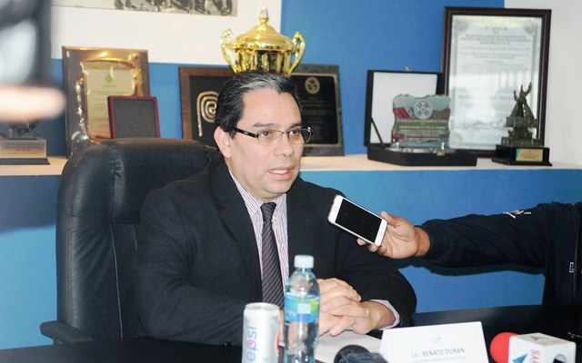 Renato Durán, secretario administrativo de la Federación Nacional de Futbol de Guatemala. (Foto Prensa Libre: Jeniffer Gómez)
