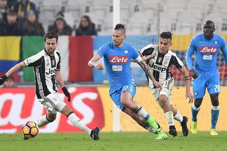 Juventus logró un importante triunfo que les permite avanzar en la Copa Italiana. (Foto Prensa Libre: AFP)