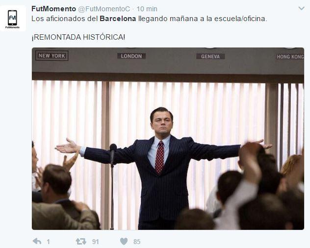 El Barcelona cumplió con una remontada inédita en la Champions League. (Foto Prensa Libre: Redes Sociales)