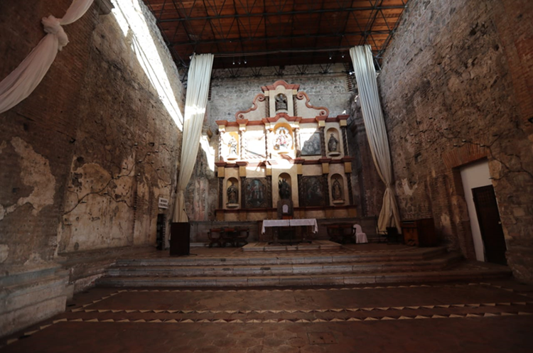 Una capilla del hotel Casa Santo Domingo de Antigua Guatemala donde se celebrará la Cumbre Iberoamericana. (Foto Prensa Libre: Érick Ávila)