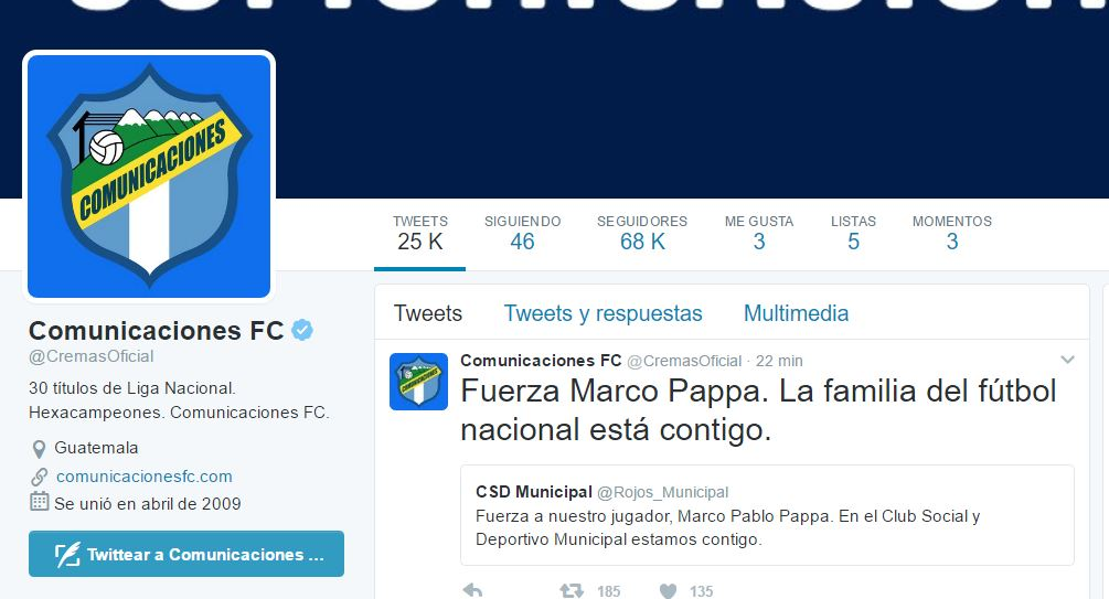 Jugadores y equipos de Liga Nacional se solidarizan con Marco Pappa