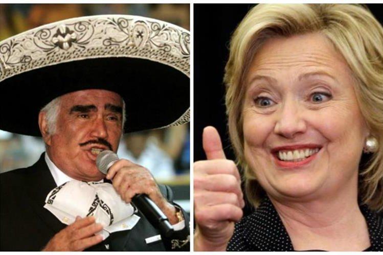 En una celebración después del debate, artistas como Vicente Fernández mostrarán su apoyo a Hillary Clinton