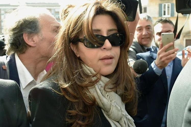 Francesca Chaouqui, exrelacionista pública del Vaticano. (Foto Prensa Libre: AFP).