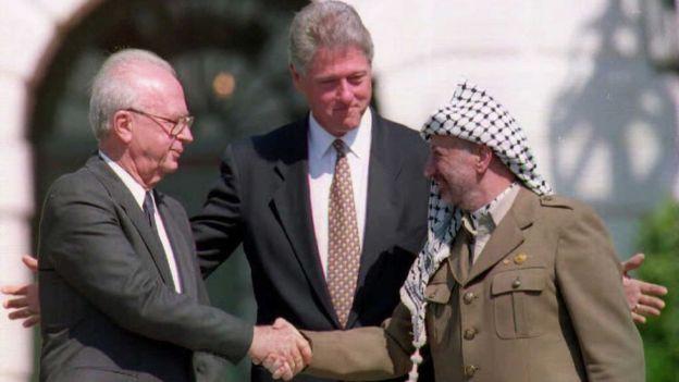 En los Acuerdos de Oslo, suscritos en 1993, se estableció que el tema de Jerusalén sería abordado posteriormente como parte de las negociaciones de paz. AFP