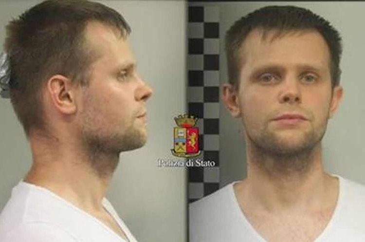 Lukasz Herba fue capturado por el secuestro. (Foto Prensa Libre: Polizia di Stato)