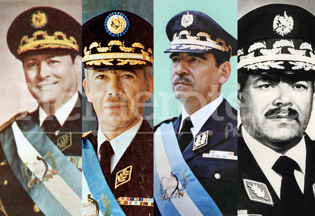 Arana Osorio, Laugerud y Lucas gobernaron tres periodos consecutivos a excepción de Guevara, que no pudo asumir por el golpe de Estado. (Foto: Hemeroteca PL)