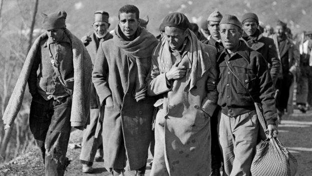 Muchos de los refugiados republicanos españoles huyeron a Francia tras la victoria franquista. (AFP)