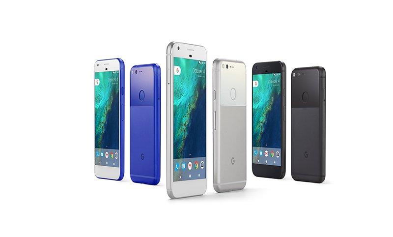 El Google Pixel y el Pixel XL llegarán al mercado en tres colores: negro, gris y azul. (Foto Prensa Libre: Google).