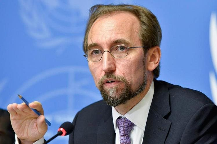Zeid Ra´ad Al Hussein, alto comisionado de Naciones Unidas para los Derechos Humanos calificó como sin precedentes declarar non grato a Iván Velásquez. (Foto Prensa Libre: ONU)