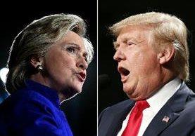 Hillary Clinton y Donald Trump comienzan el último fin de semana de una maratónica campaña. (AP).