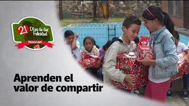 #21DíasDeDarFelicidad   Día 13   Fomentan el valor de compartir