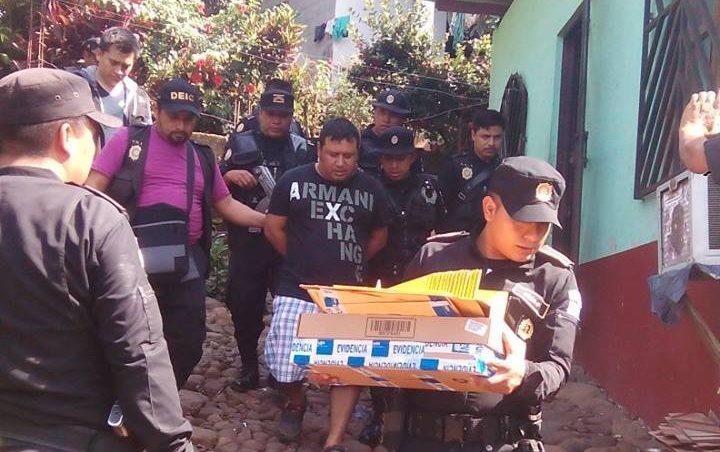 Edgar Vargas Barrios al momento de ser capturado el 7 de octubre del 2016, en Malacatán, San Marcos.
