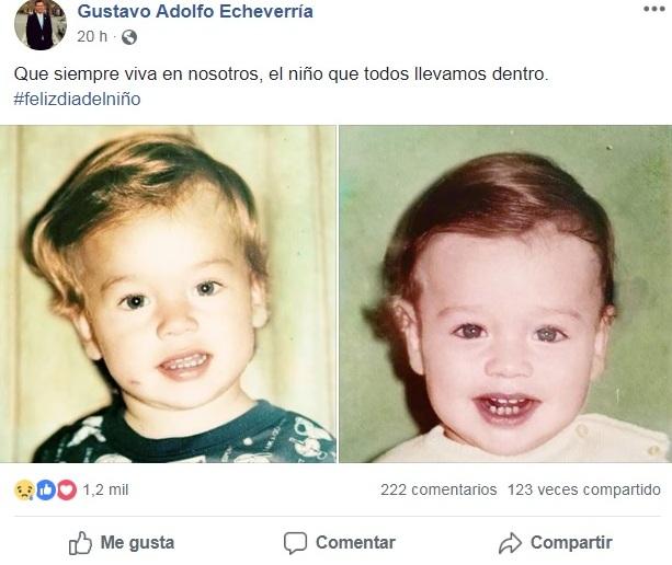 Minuto antes de ser atacado a balazos, el exparlamentario publicó en su perfil de Facebook un mensaje alusivo al Día del Niño. (Foto Prensa Libre: Mario Morales)