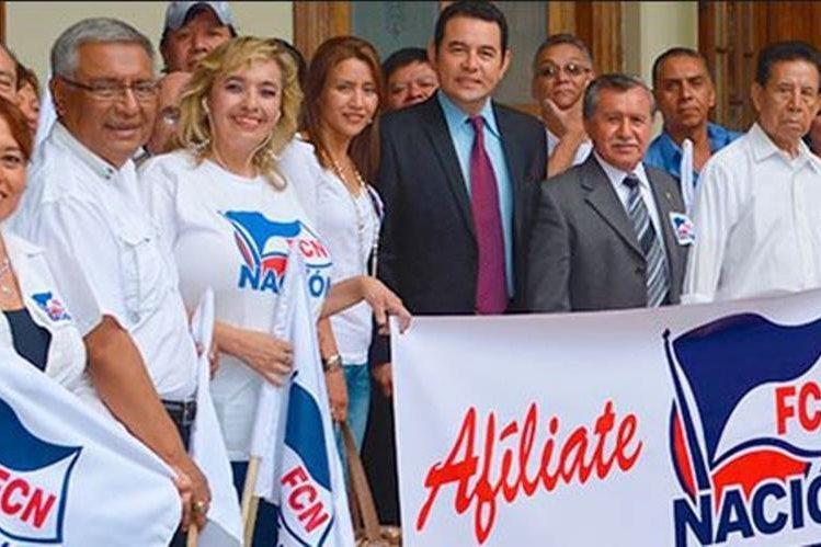 La agrupación política FCN-Nación enfrenta una denuncia penal y otra administrativa por incumplir con la Ley Electoral. (Foto Prensa Libre: Hemeroteca PL)