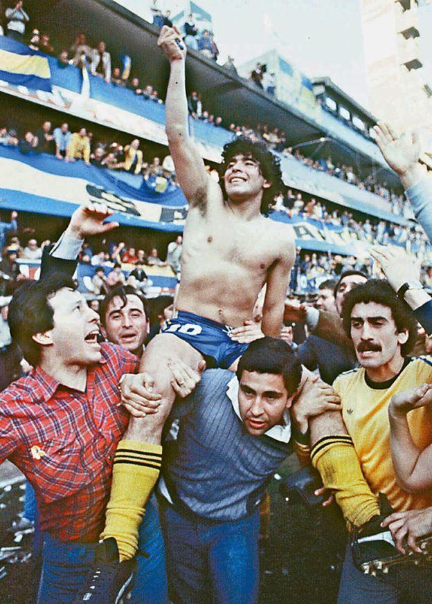 Maradona ayudó a que Boca se diera a conocer internacionalmente. GETTY IMAGES