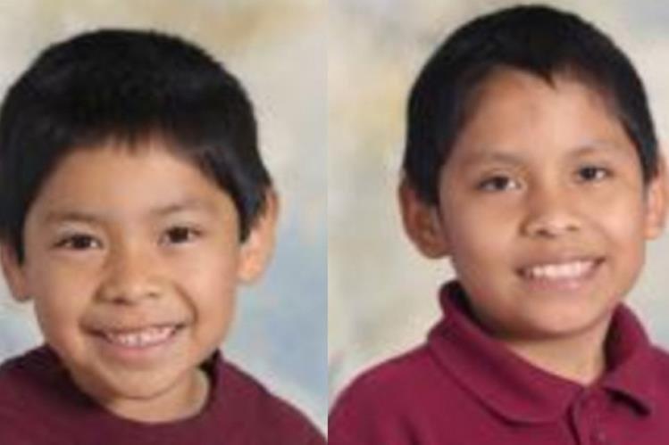 Los hermanos Ezequiel, de 6 años, y Nixon, 11, de apellidos López Ovalle, fallecieron en Oakland, California. (Foto Prensa Libre. GoFundMe)