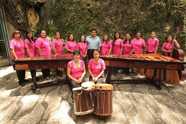 La Marimba  Femenina de Conciertos participará en un homenaje en Estados Unidos. (Foto Prensa Libre: Hemeroteca PL)