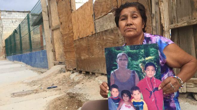 Marisela, la hija de Irma Vargas, desapareció en 2011 y se tuvo que hacer cargo de sus cuatro nietos. BBC MUNDO
