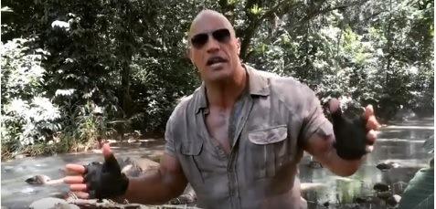 El actor Dwayne Johnson es el protagonista de la segunda entrega de Jumanji, y estas son las primeras escenas desde el set de filmación. (Foto Prensa Libre: YouTube)