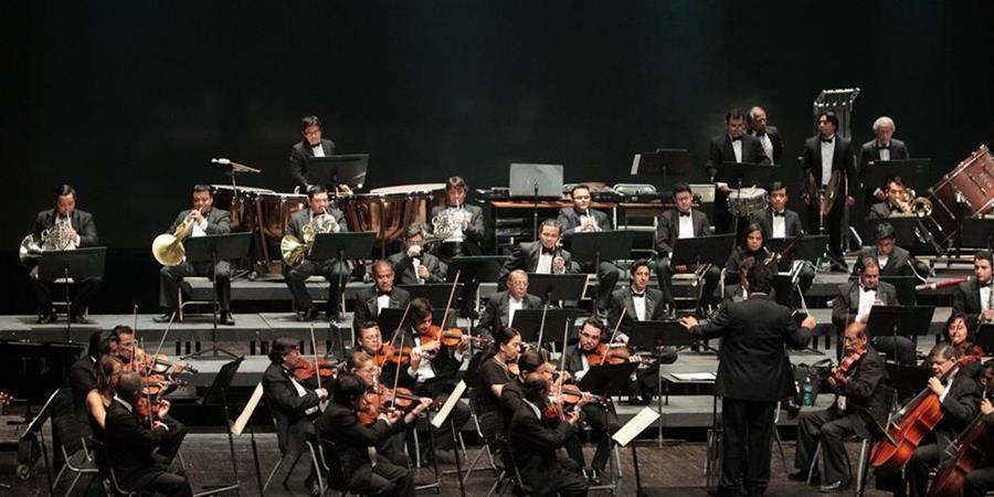 Orquesta Sinfónica Nacional de Guatemala, durante un concierto en la sala Efraín Recinos. (Foto Prensa Libre: Archivo).