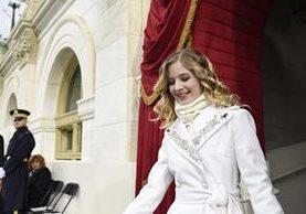 Jackie Evancho en el acto de cambio de mando en EE. UU. (Foto Prensa Libre: AP)