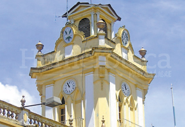 Torre de la Municipalidad de Chiantla, Huehuetenango. (Foto: Hemeroteca PL)