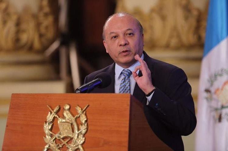 José Luis Chea Urruela presenta los principales logros del Ministerio de Cultura y Deportes. (Foto Prensa Libre: AGN)