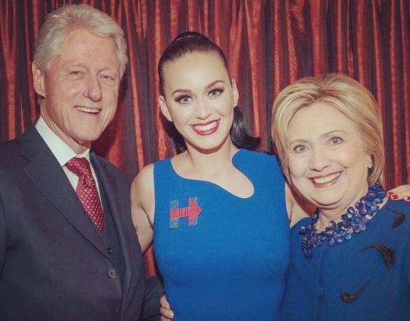 Katy Perry ha demostrado su afinidad con la famlia Clinton. (Foto Prensa Libre: Instagram)