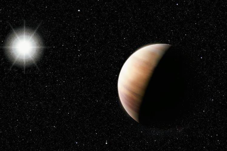 La imagen muestra el nuevo descubrimiento de un gemelo de Júpiter, gigantesco y gaseoso. (Foto Prensa Libre: EFE).