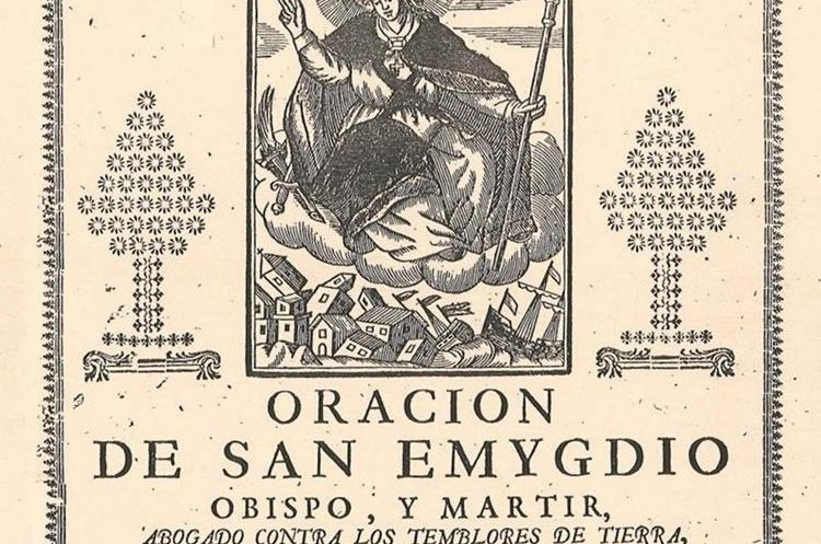 Una estampa publicada en la región valenciana de Almoradí, en España, una de las localidades afectadas por un terremoto en 1829 (Foto Prensa Libre: Gogistes Valencians).