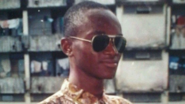 Umaru Fofana en su época en la universidad. UMARU FOFANA