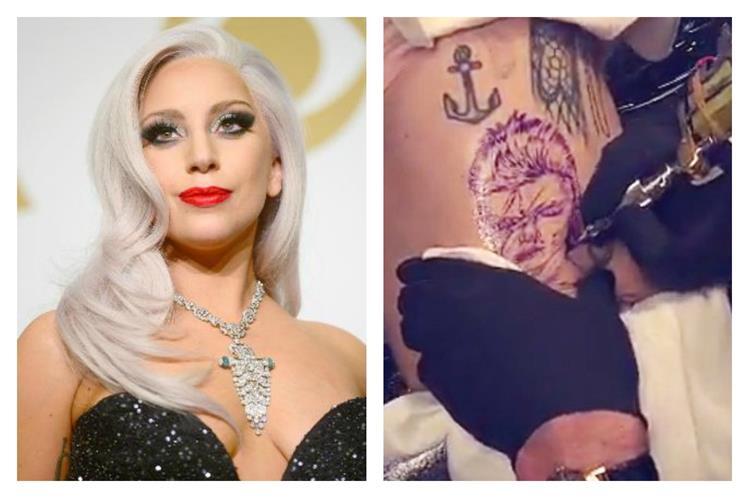 Lady Gaga Tatuajes lady gaga sorprende con un nuevo tatuaje dedicado a david bowie