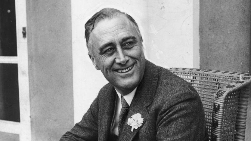 Franklin Delano Roosevelt gobernó EE.UU. de 1933 a 1945, año en que murió. GETTY IMAGES