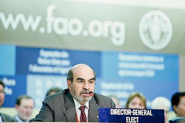 José Graziano da Silva, director general de la Organización de la ONU para la Alimentación y la Agricultura  (FAO).