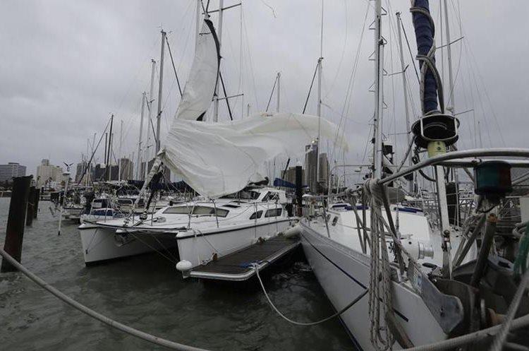 Varias embarcaciones resultaron con daños por el paso del huracán Harvey, en Corpus Christi, Texas.(AP).