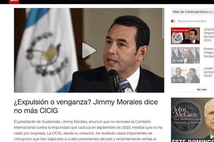 El artículo de la cadena CNN en Español.