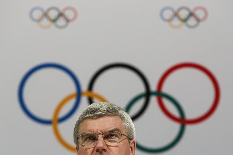 El presidente del COI, Thomas Bach se pronunció por las cinco ciudades candidatas para los Juegos Olímpicos de 2024. (Foto Prensa Libre: AP)