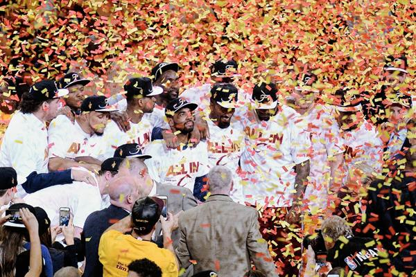 Cleveland flamante campeón de la Conferencia Este. (Foto Prensa Libre: AFP)