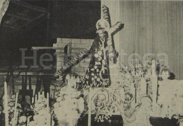 Bodas de Plata de la Procesión del Silencio, nótese el Templo de San José aún en construcción en el año 1979. (Foto: Hemeroteca PL)