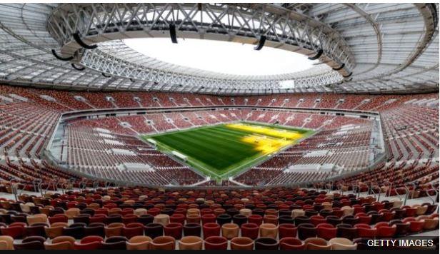 El estadio Luzhniki de Moscú será la sede de la final de la Copa del Mundo.